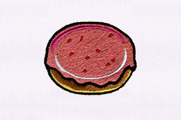 Jam Doughnut Food & Dining Embroidery Design By DigitEMB