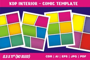 Print on Demand: KDP Interior Comic Page Story Template Graphic KDP Interiors By edywiyonopp