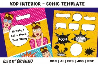Print on Demand: KDP Interior Comic Template Great Vector Graphic KDP Interiors By edywiyonopp