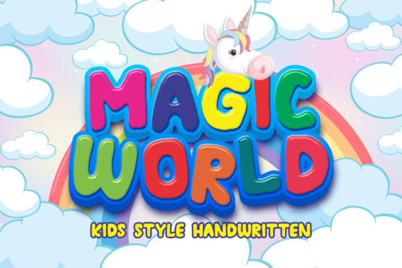 Print on Demand: Magic World Display Font By Mozarella