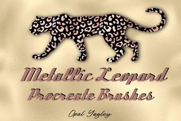Print on Demand: Metallic Leopard Procreate Brushes Graphic Brushes By opal.yagley
