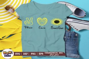 Print on Demand: Peace Love Sunshine Graphic Crafts By Wowsvgstudio