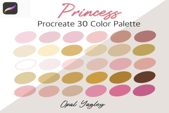 Print on Demand: Princess - Pink Gold - Procreate Color Graphic Add-ons By opal.yagley