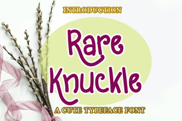 Print on Demand: Rare Knuckle Script & Handwritten Font By merge354