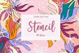 Stencil Collection Graphic Illustrations By ArtstudioByKhushbu