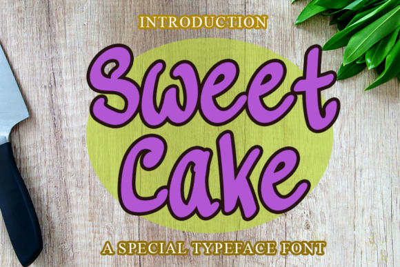 Print on Demand: Sweet Cake Display Font By merge354