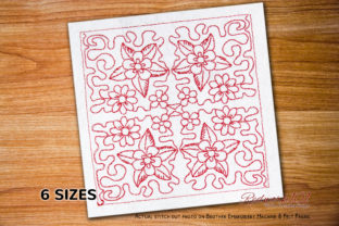 Traditional Sicilian Quilt Intricate Cuts Embroidery Design By Redwork101