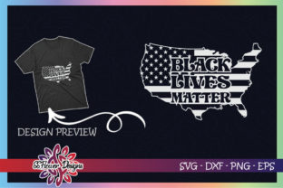 USA Map Black Lives Matter Graphic Print Templates By ssflower