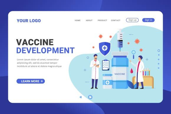 Vaccine Development Landing Page Graphic Landing Page Templates By Freshcare