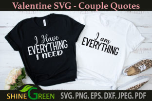 Print on Demand: Valentines Day Couple Love Quotes Graphic Crafts By ShineGreenArt