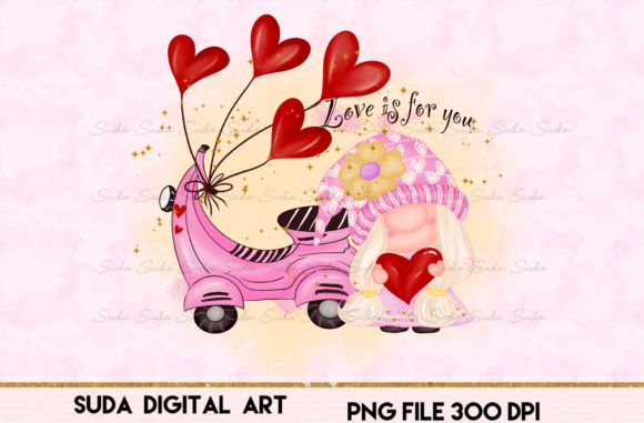 Print on Demand: Valentines Day Love is  Sublimation Graphic Illustrations By Suda Digital Art