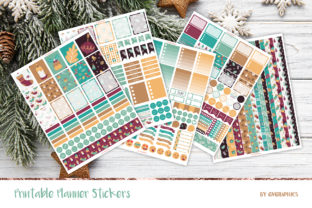 Winter Printable Planner Stickers Graphic Print Templates By GVGraphics