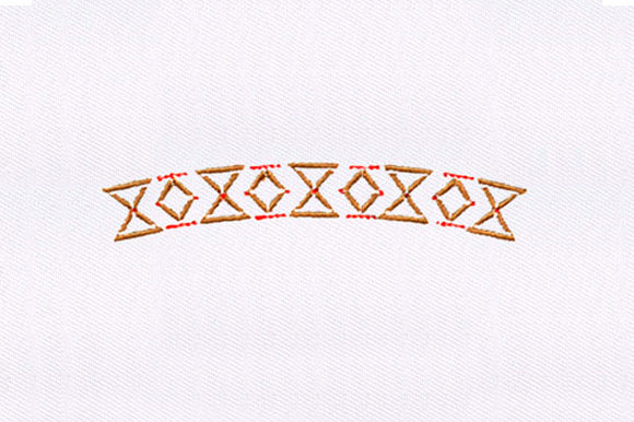 Xs and Os Quilting Borders Embroidery Design By DigitEMB