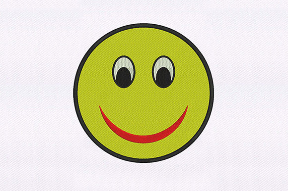 Yellow Smiling Emoji Design Father Embroidery Design By DigitEMB