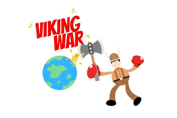 Barbarian Viking Fight War Earth Globe Graphic Illustrations By Ardwork