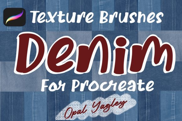Print on Demand: 14 Denim Texture Procreate Brushes Graphic Brushes By opal.yagley