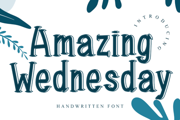 Print on Demand: Amazing Wednesday Display Font By dazzlinggleam