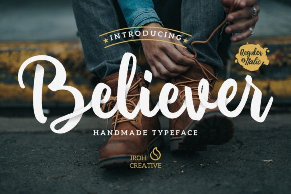 Print on Demand: Believer Script & Handwritten Font By JROH Creative