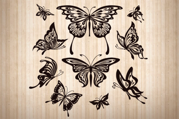 Print on Demand: Butterfly, Svg, Png, Dxf, Eps. Graphic 3D Shadow Box By LightBoxGoodMan