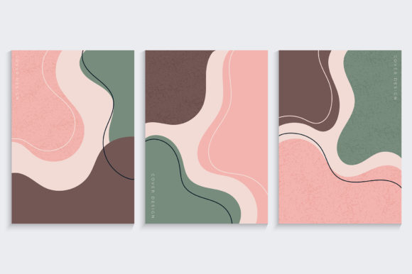 Cover Design with Organic Shapes Graphic Backgrounds By medelwardi