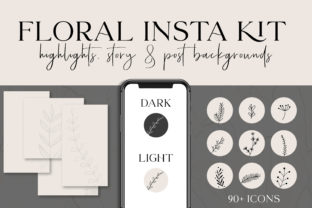 Print on Demand: Floral Instagram Highlights & Templates Graphic Graphic Templates By Pretty Decadent