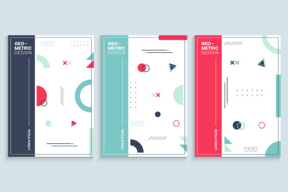 Memphis Style Cover Design Template Graphic Backgrounds By medelwardi