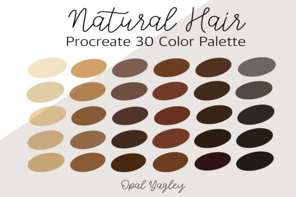 Print on Demand: Natural Hair Procreate Color Palette Graphic Add-ons By opal.yagley