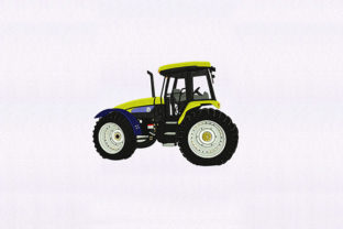 Rural Tractor Transportation Embroidery Design By DigitEMB