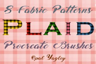 Print on Demand: Seamless Plaid Pattern Procreate Brushes Graphic Brushes By opal.yagley