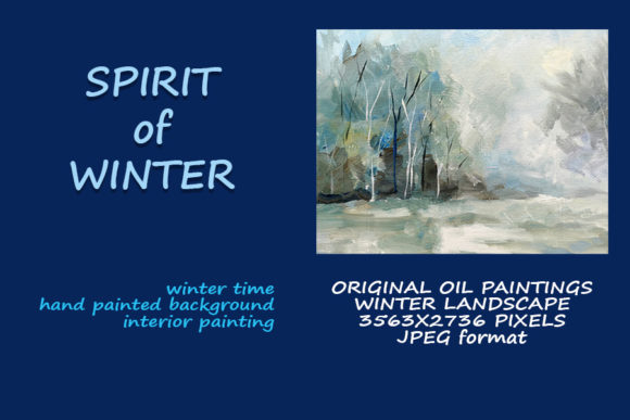 Spirit of Winter. Oil Painting Landscape Graphic Illustrations By Galarta
