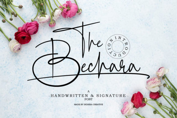 Print on Demand: The Bechara Script & Handwritten Font By InDhika