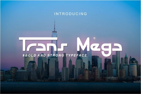 Print on Demand: Trans Mega Display Font By Pidco.art