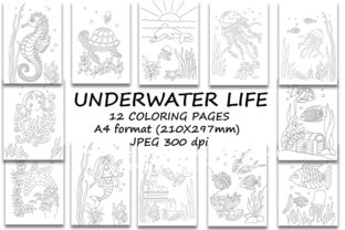 Print on Demand: Underwater Life. Coloring Pages for Kids Graphic Coloring Pages & Books Kids By LisArt