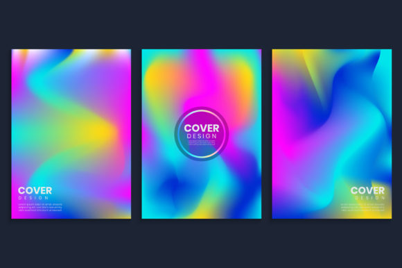 Vibrant Blurred Gradient Covers Design Graphic Backgrounds By medelwardi