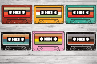 Print on Demand: Vintage Retro Cassette Tape Graphic Illustrations By rayan