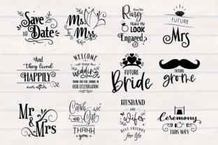Print on Demand: Wedding SVG Bundle, 12 Designs, Graphic Crafts By SmmrDesign