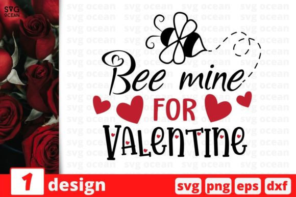 Bee Mine for Valentine Graphic Crafts By SvgOcean