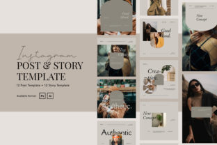 Print on Demand: Elegant Beauty Instagram Post and Story Graphic Web Elements By peterdraw