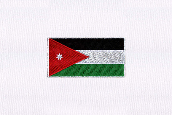 Flag of Jordan Independence Day Embroidery Design By DigitEMB