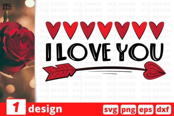 I Love You Graphic Crafts By SvgOcean