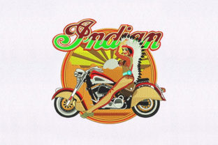 Indian Biker Native Asia Embroidery Design By DigitEMB