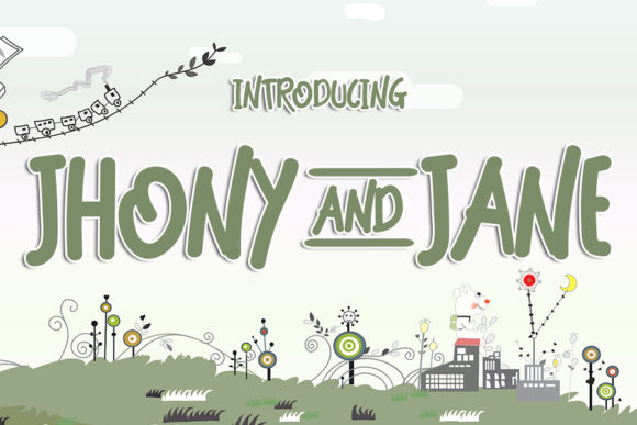 Print on Demand: Jhony and Jane Display Font By Eddygoodboy