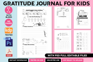 Print on Demand: KDP PSD Gratitude Journal for Kids 2021 Graphic KDP Interiors By Queen Dreams Store