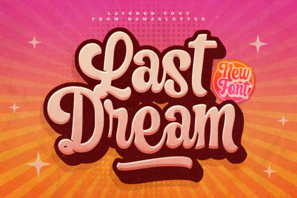 Print on Demand: Last Dream Script & Handwritten Font By Damarletter