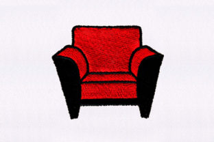 Leather Sofa Chair Bedroom Embroidery Design By DigitEMB