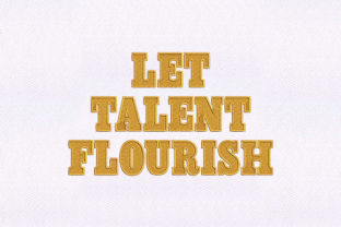 Let Talent Flourish Awareness Embroidery Design By DigitEMB