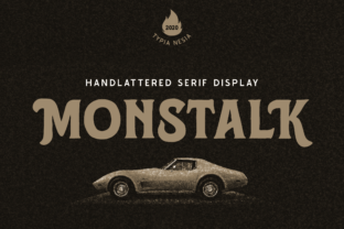 Print on Demand: Monstalk Display Font By Typia Nesia