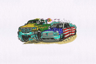 Monster Truck & Car Sports Embroidery Design By DigitEMB