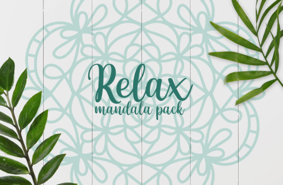 Relax Mandala Pack Graphic Crafts By Firefly Designs
