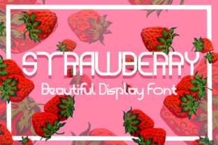 Print on Demand: Strawberry Display Font By fluffyartstudio